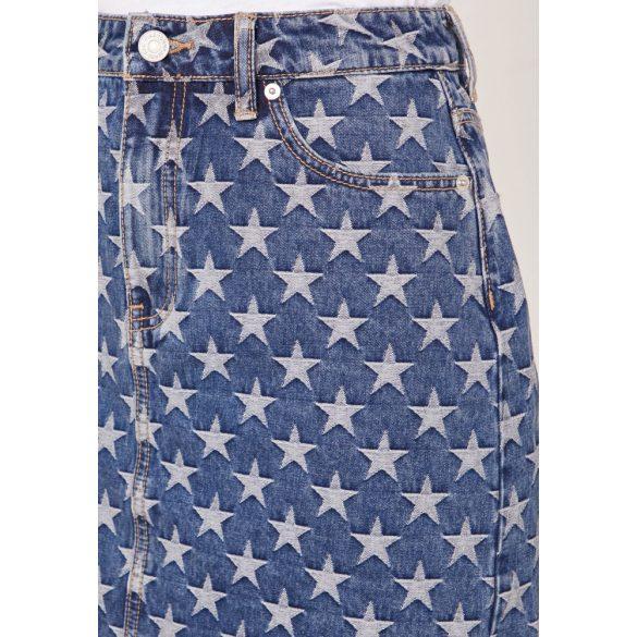 Tommy Jeans női farmerszoknya csillag alakú mintával