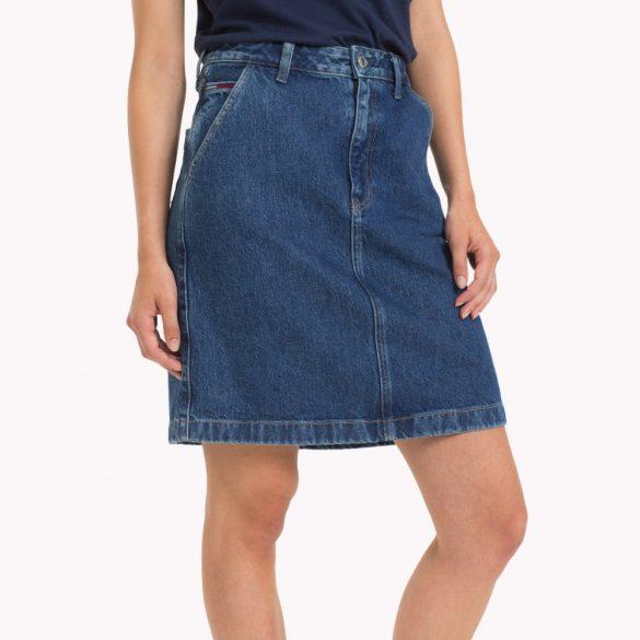 Tommy Jeans női farmerszoknya kék színben