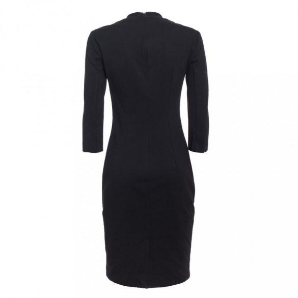 Trussardi női alkalmi business ruha V nyakkivágással fekete színben