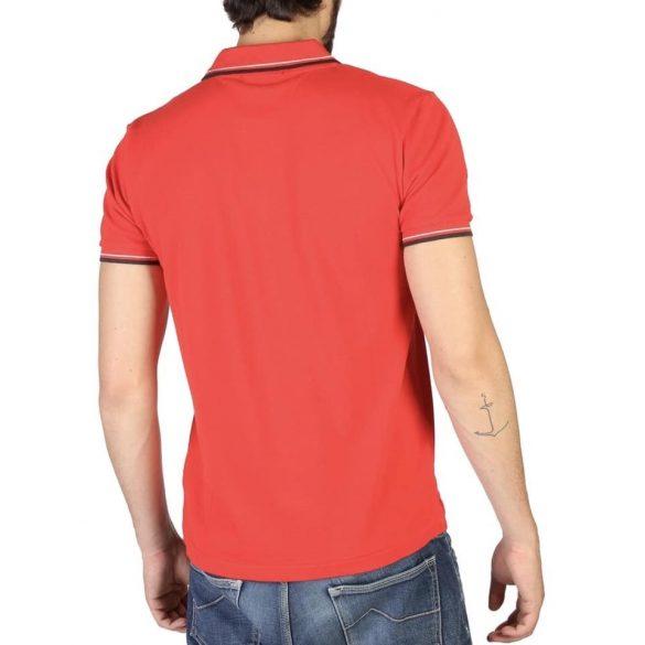 Trussardi Action férfi gelléros póló piros színben