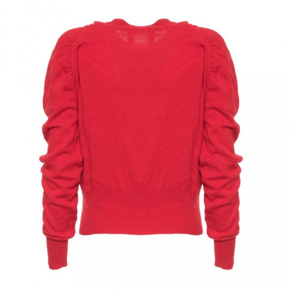 Guess női gyapjú pulóver piros színben