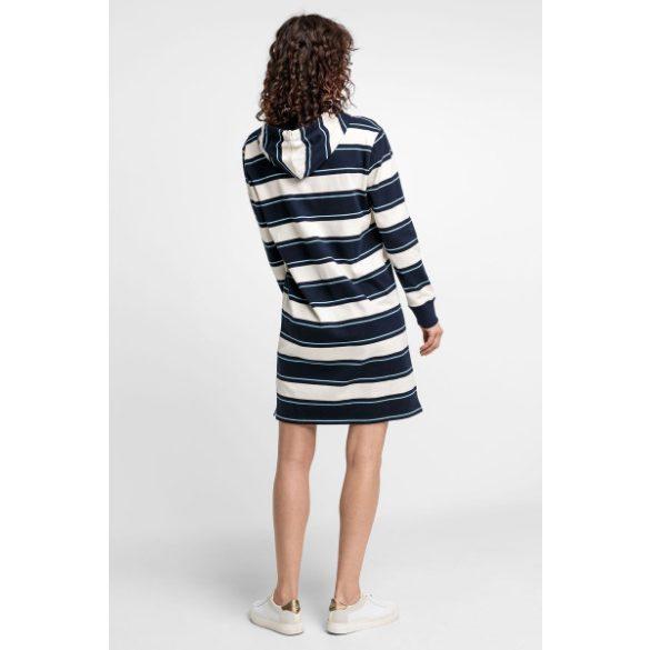 Gant női kapucnis pulcsiruha csíkozott mintával