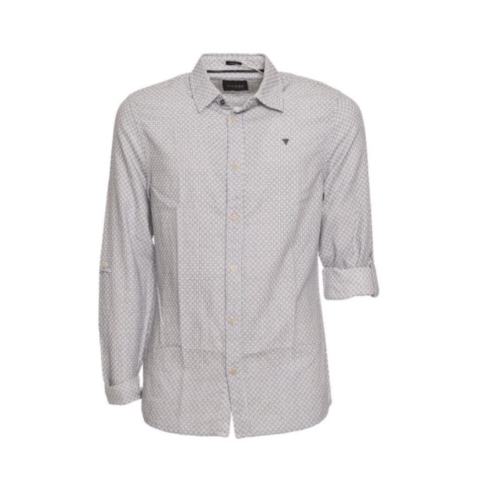 c55c6e916e Guess férfi anyagában mintás ing fehér színben apró fekete mintával ...