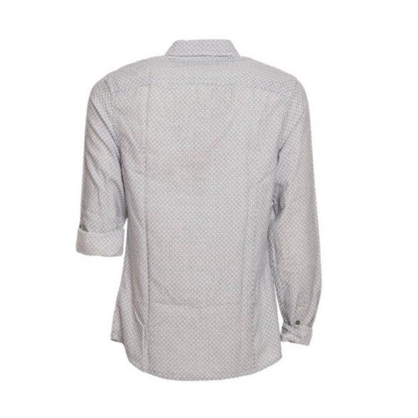 Guess férfi anyagában mintás ing fehér színben apró fekete mintával
