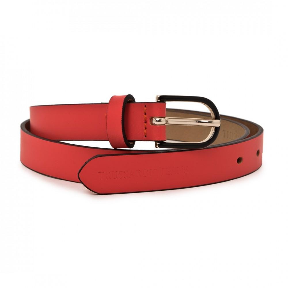 05bdb8d6fa Trussardi Jeans női bőr öv piros színben - Dress Hunter Designer Store