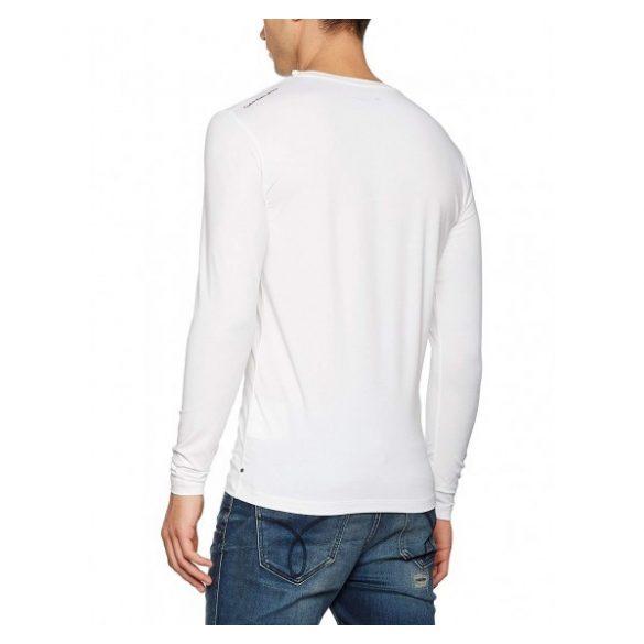 f5611db475 Calvin Klein Jeans férfi hosszú újjú póló felirattal fehér színben ...