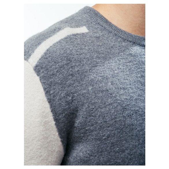 Calvin Klein Jeans férfi gyapjú pulóver szürke és ecru színben