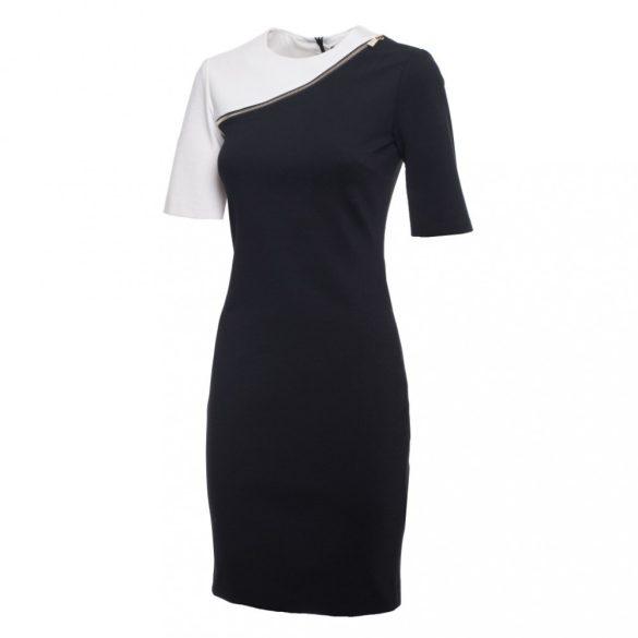 Trussardi női rövid ujjú alkalmi ruha fekete és fehér színben