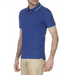 Calvin Klein Jeans férfi galléros póló királykék színben