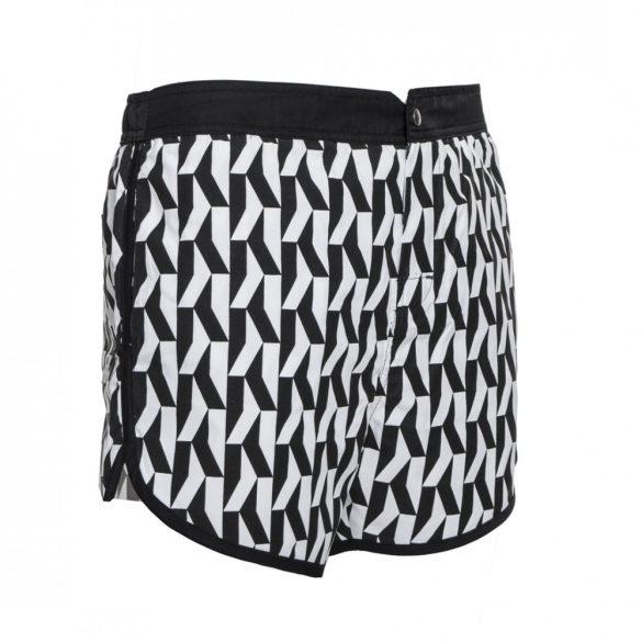 Karl Lagerfeld férfi úszónadrág fekete-fehér színben
